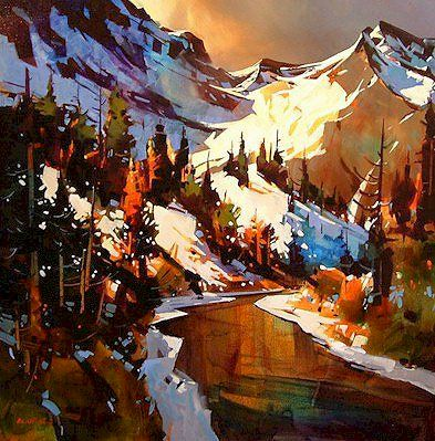 Late Autumn Kananaskis, by Michael O'Toole (b1963; Vancouver, British Columbia, Canada)