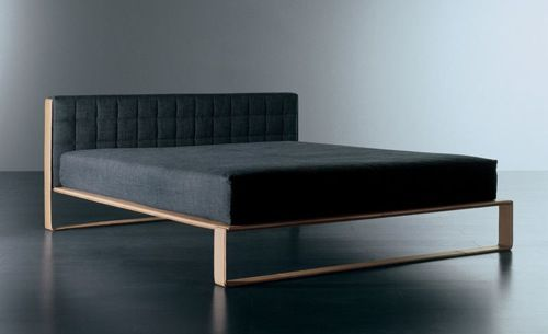 [Grey Tweed Bed from Usona] simple but nice rectilinear design