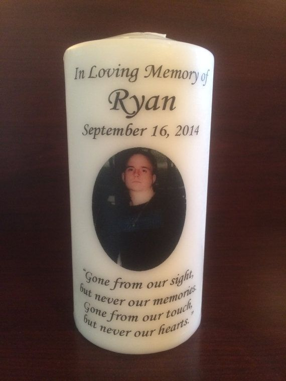 Wedding Candle. Memorial Candle Funeral Candle by YoursCherished