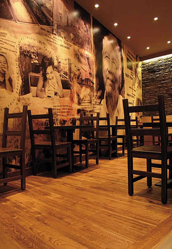 Modern Barbureto Restaurant Interior Design (like The Idea Of Blown Up  Photos Covering Wal, We Could Have Some With Bold Colours)
