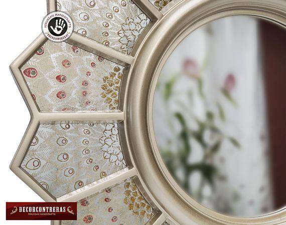 Espejo Decorativo Redondo Pavo Real Espejo color