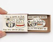 Funny Anniversary Love Card Matchbox/ Gift box/ Message box/ Owls/ It's so great to find that one special person