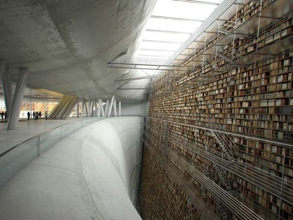 Stockholm Public Library (Suede) : via HuffingtonPost 世界の美しい図書館