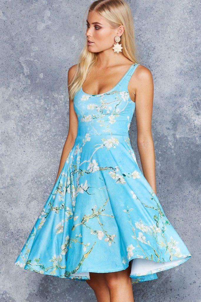 Almond Blossom Pocket Midi Dress