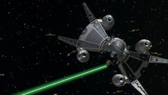 The Last Starfighter (1984) / Alex and Grig attack the Ko-Dan armada with their lone Gunstar.  Great scene.
