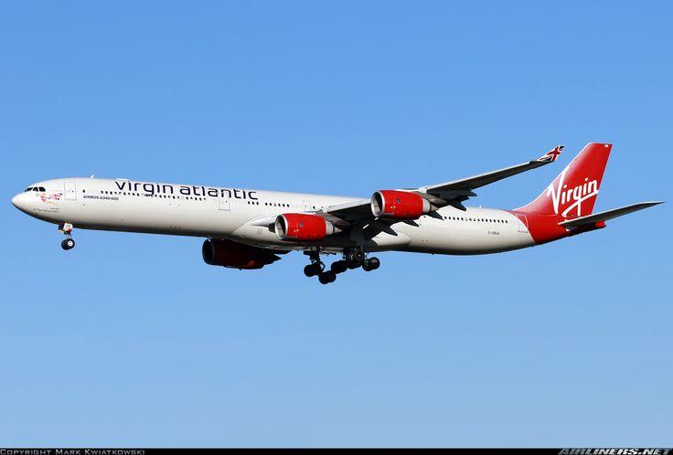 Airbus A340-642, Virgin Atlantic Airways, G-VBUG, cn 804, 308 passengers, first flight 9.2.2007, Virgin Atlantic delivered 28.2.2007. 3.6.2016 flight London - New York. Foto: London, United Kingdom, 16.2.2016.