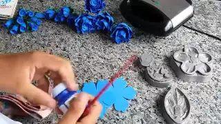 Como fazer rosas de eva rosas em eva flor de eva - YouTube