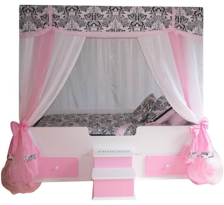 Sophia Princess TODDLER Canopy Bed, Girls Bed, Girls Bedroom Furniture