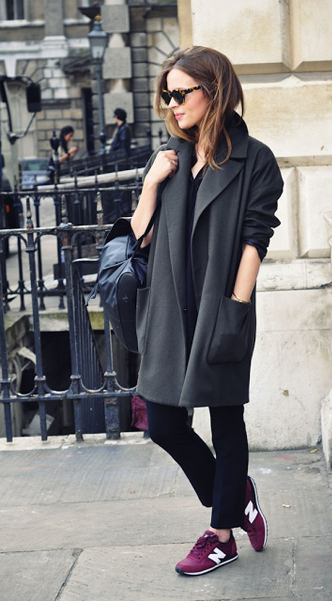 casual winter/autumn look with a pop of new balance trainers
