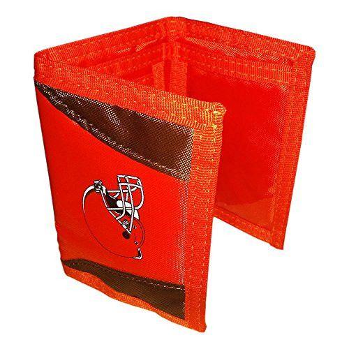 "NFL Cleveland Browns Chamber Velcro Wallet, Orange, 4.7"""