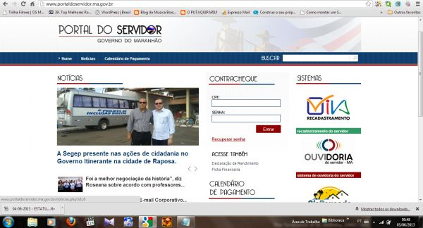 Portal do Servidor MA Seduc Contracheque