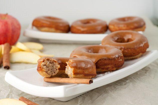 Caramel Apple Doughnuts {Gluten free, Dairy free, Refined sugar free, Yeast free, Corn free, Grain free}