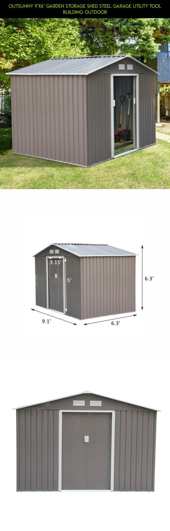 Outsunny 9'X6' Garden Storage Shed Steel Garage Utility Tool Building Outdoor #camera #a #racing #kit #fpv #tech #technology #shopping #products #parts #shed #storage #plans #drone #gadgets