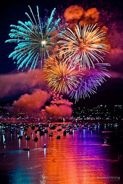 "Fireworks in Vancouver for the annual Celebration of Lights. ""Celebration of Lights 2011 -In Vancouver BC."" This was a great experience we got to do a couple of times.  Highly recommend it, in the summer."