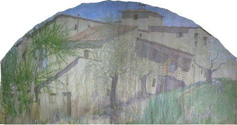 Tom Henderson Smith, Tuscan farmhouse 200 (H) × 300 (W) cms on ArtStack #tom-henderson-smith #art