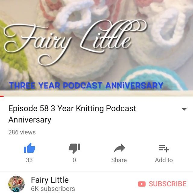 My Newest episode is up! Three years I xant beleive it. Thank you for your patience. My absense is explained in this episode. #fairylittle #fairylittlepodcast #knittingpodcast