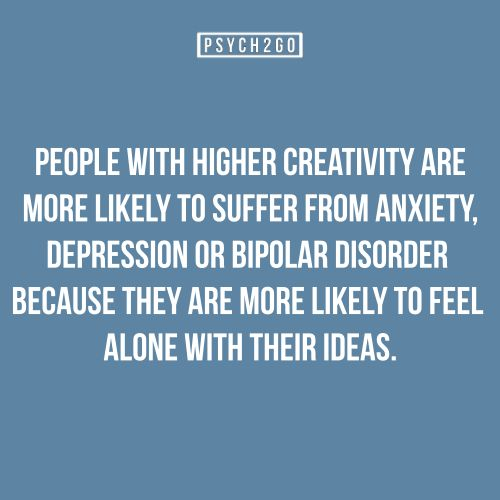 Read to find out the discussion on this: http://www.psych2go.net/creativity-and-depression-what-causes-the-link/