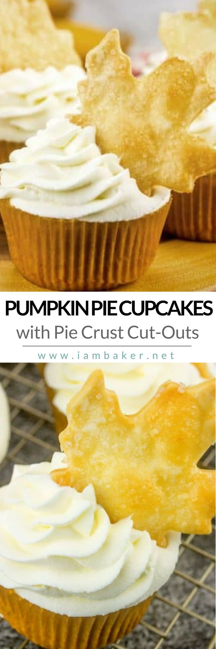 Create an easy and delicious dessert recipe with these Pumpkin Pie Cupcakes! Fall is in full bloom and Thanksgiving is right around the corner! If you're thinking of a sweet treat to make, this simple homemade cupcake will be pretty good for your family! More easy dessert recipes @iambaker #iambaker #iambakerdessert #iambakercupcake #pumpkinpie #pumpkinrecipes
