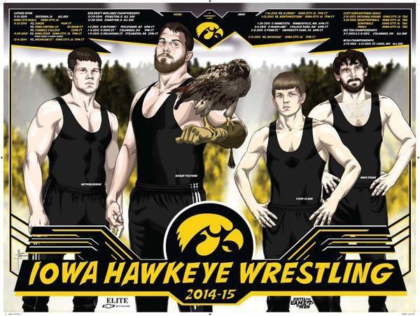 Posterswag Com Ncaa Wrestling Schedule Poster Gallery Iowa