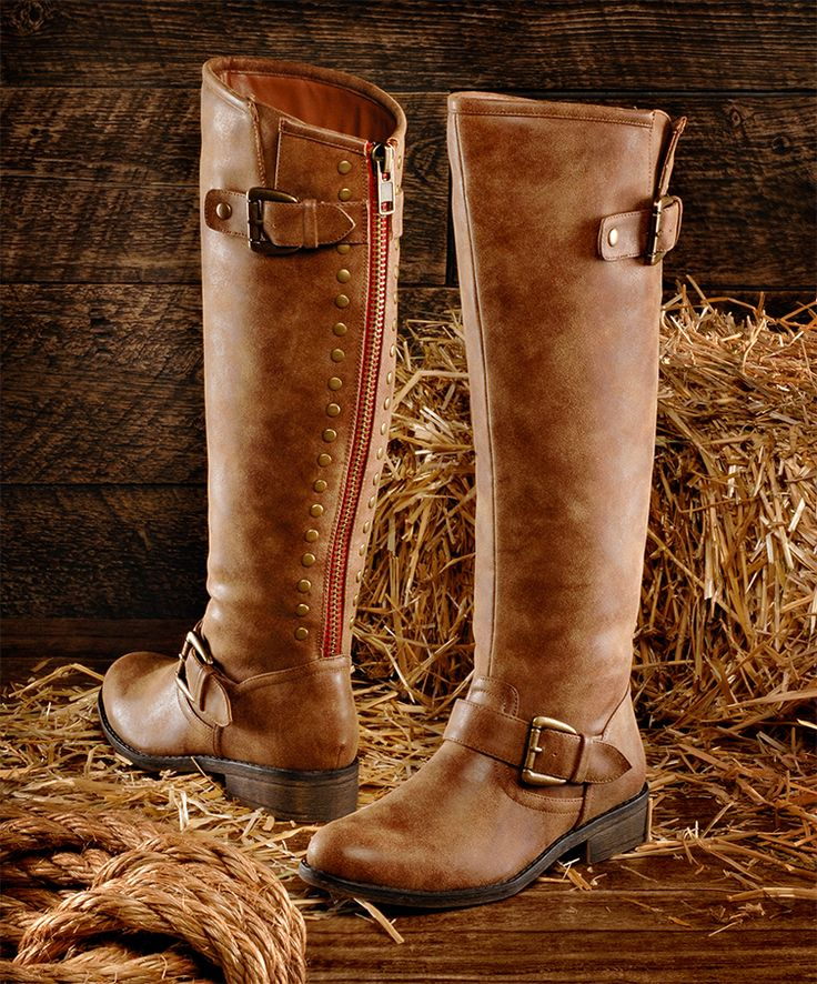 Step out in style with the Madden Girl Cactuss riding boots at Shoe Carnival!