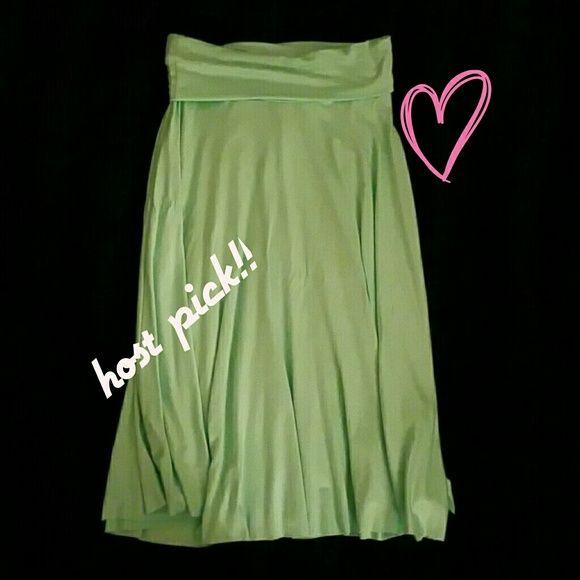 🎉 Bundle 4 For $9 🎉Beautiful! Mint Green Skirt Beautiful Classy Mint Green Skirt With fold Over Waist Skirts