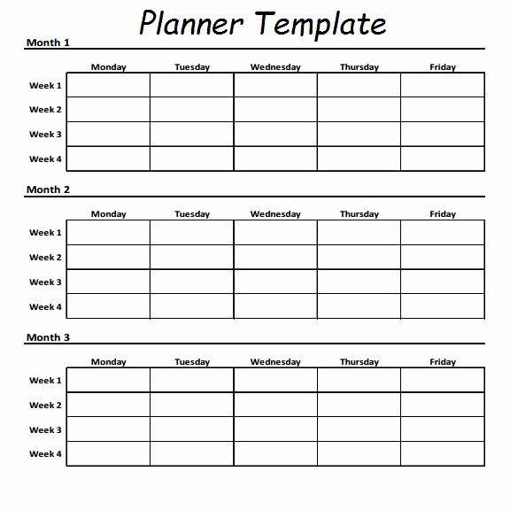 12 Week Blank Calenda Printable Calendar Template Printable