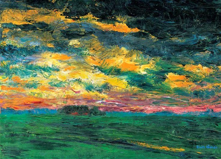 Emil Nolde Ruffeled Autumn Clouds 1927