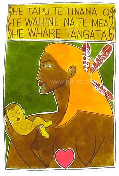 "He Tapu Te Tinana by Robyn Kahukiwa  ""The body of a woman is sacred because it is the house of mankind"""