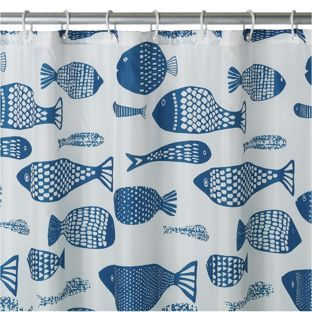 Buy HOME Anti Bacterial Fish Shower Curtain at Argos.co.uk, visit Argos.co.uk to shop online for Shower curtains and poles