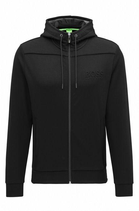 Regular-fit hooded sweatshirt in cotton blend