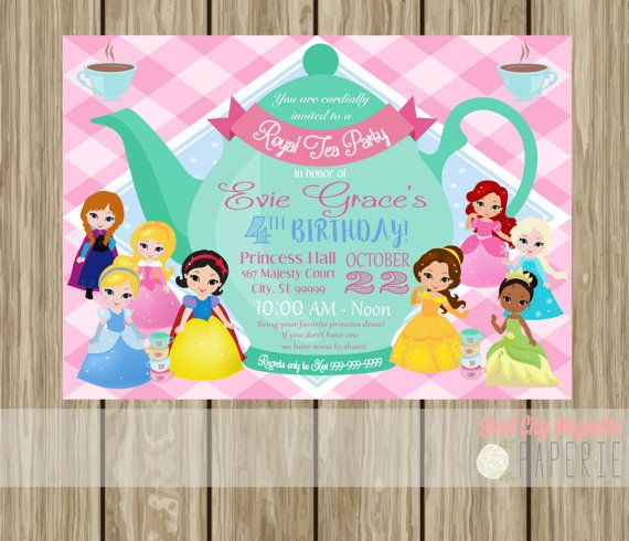 Best 20 Princess Tea Party ideas – Disney Princess Tea Party Invitations