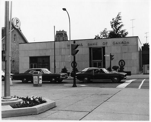 Moved here in 1971- left in 1974- and moved back in 1983- what a difference! The banks were even open all day Wed. You could get gasoline after 6:00pm and purchase milk and bread. - P. Mowers  Photo courtesy of the Oshawa Community Archives, c. 1970
