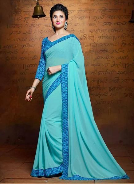 LadyIndia.com #Printed Sarees, Sunfnl Sea Green Designer Printed Sarees-ISH-4516, Printed Sarees, https://ladyindia.com/collections/ethnic-wear/products/sea-green-designer-printed-saree-ish-4516