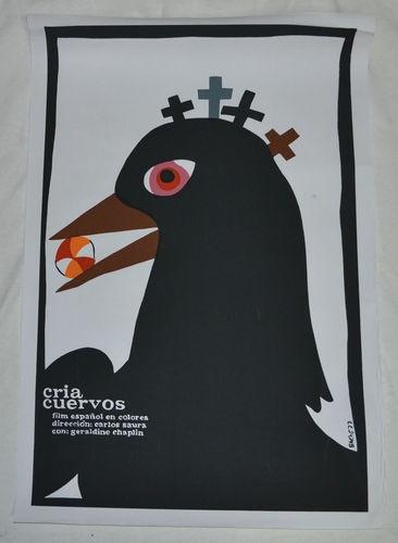 "20x30"" Silkscreen Movie Poster from Cuba Cria Cuervos Black Bird with Beach Ball | eBay"