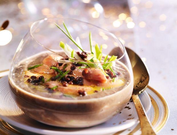 Velouté de lentilles au foie gras Voir la recette du Velouté de lentilles au foie gras