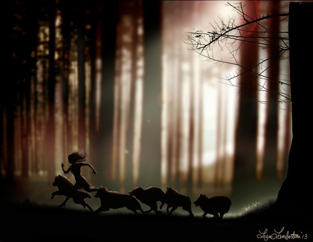 Princess Emma ran with the royal wolf pack through the northern forests.