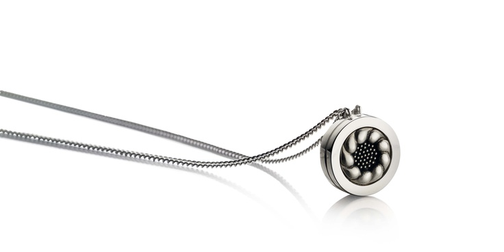 Scandinavian Style.  Silver with Oxidation