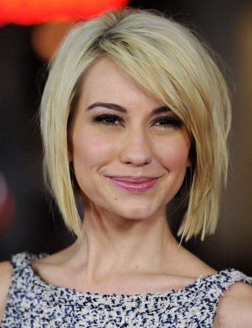 2014 Short Hairstyles: Blunt Bob with Side Bangs