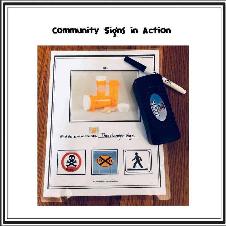 A Danger To Students With Disabilities >> Community And Safety Signs Special Education For Slps
