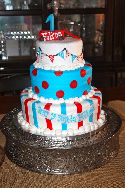 Fun cake at a Little Red Wagon Party #littleredwagon #partycake