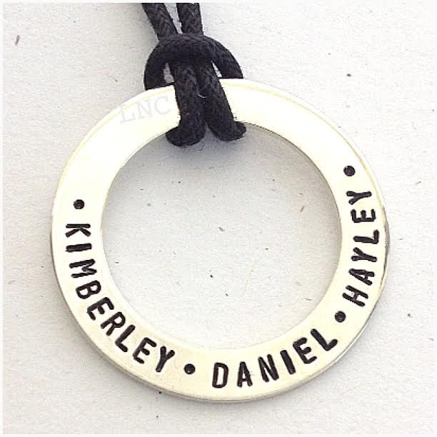 Sterling Silver Unisex Large Halo. Personalised just for you.  Order yours today at www.lovencherish.com