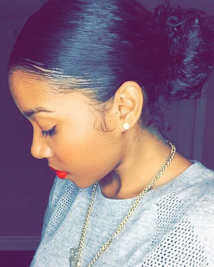 (@futurecoldest) on Instagram Natural hair  Sleek bun