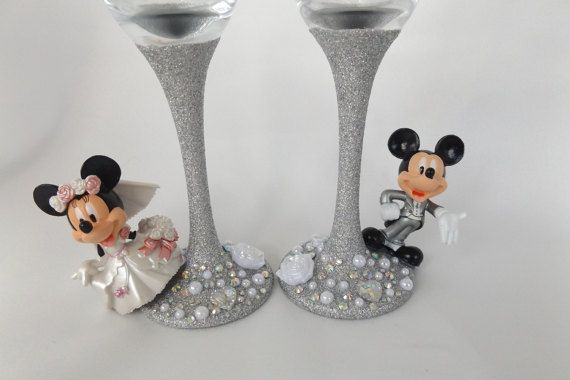 Mickey Minnie bride and groom  Wedding  by DesignedByDeeUK on Etsy