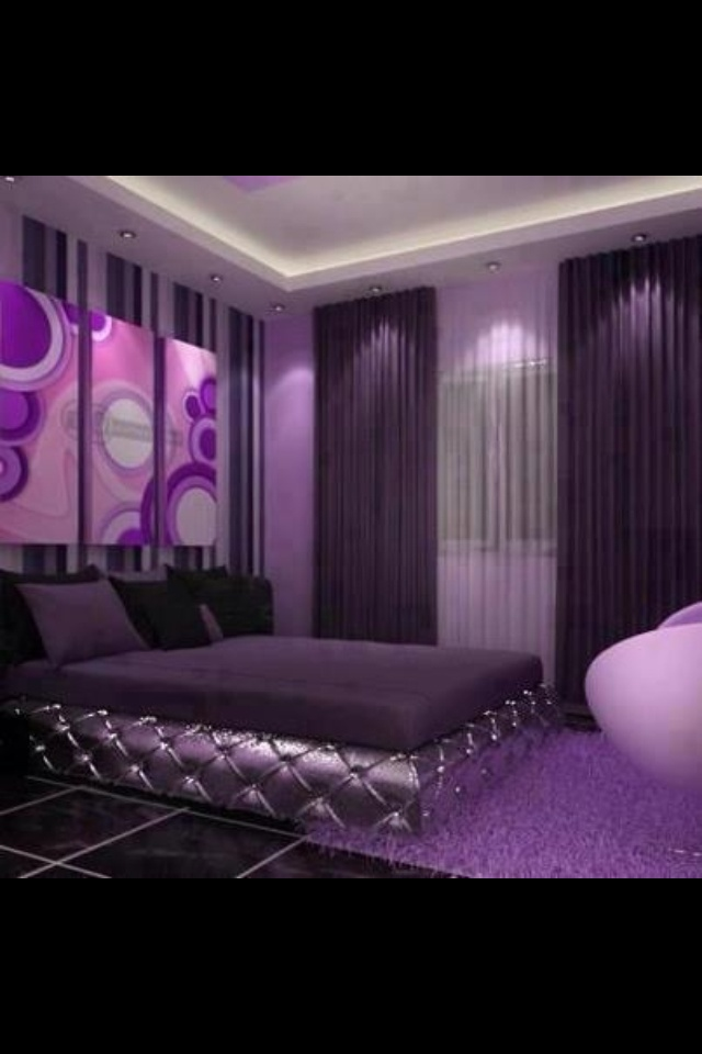 Simple, yet elegant & so many shades of purple tastefully incorporated ...perfect
