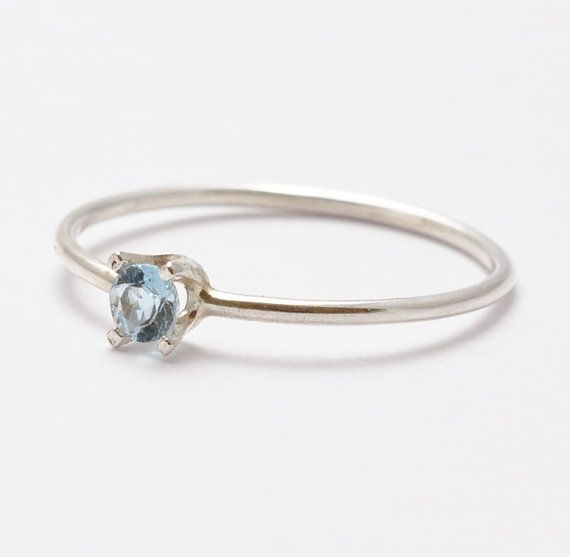 Aquamarine Ring Gemstone Simple Aquamarine by BlueRidgeNotions, $48.00