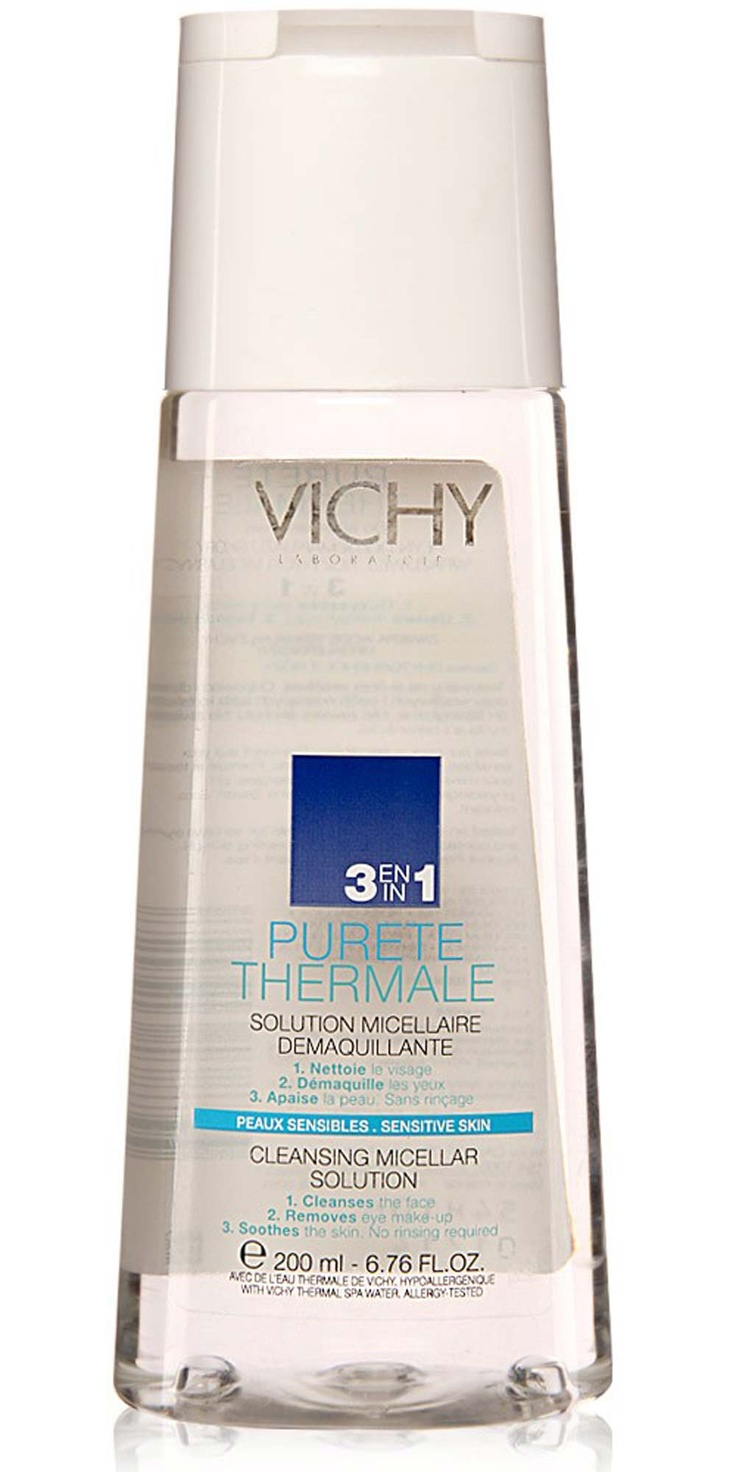 Vichy 3in1 Calming Cleansing Micellar Solution - Until I can figure out how to make this myself this is my go to cleanser.  Although with my skin drying out as I age, I might give the oil cleansing method a try.