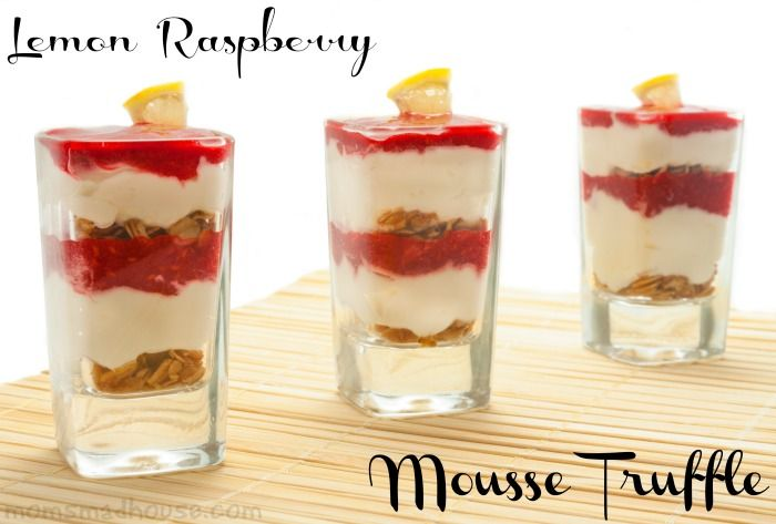 Lemon Raspberry Mousse Truffle - Mom's Madhouse