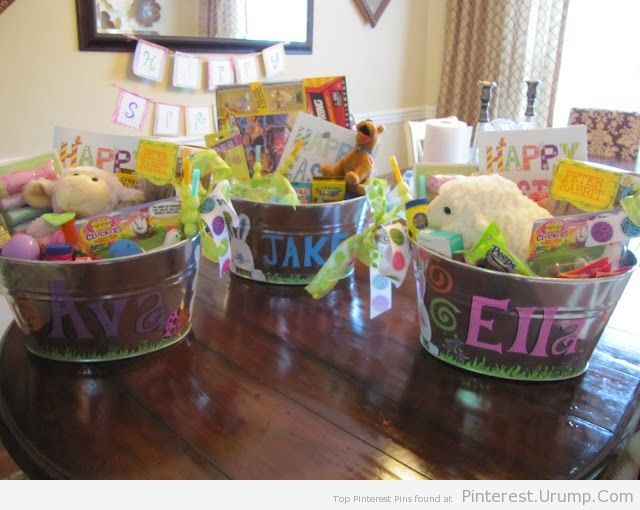 86 best easter basket ideas images on pinterest easter basket cutest easter basket idea negle Image collections
