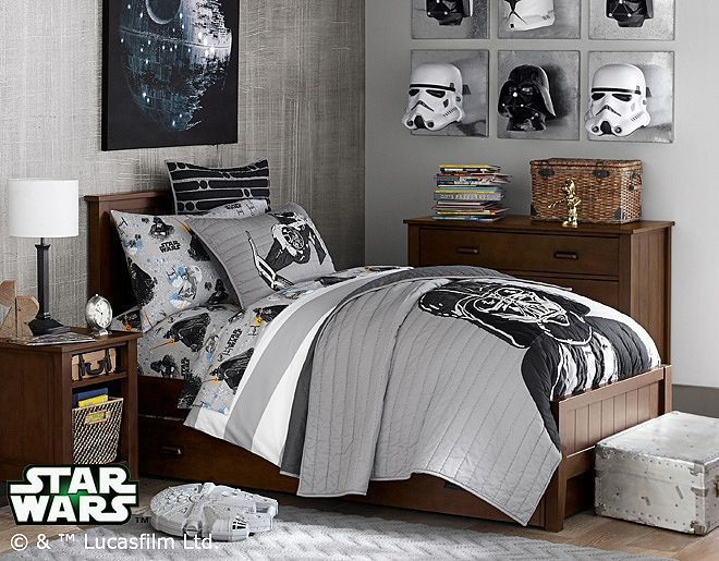 Love The Masks On The Wall. I Think I Could DIY This. Star Wars BedroomBoy  ...