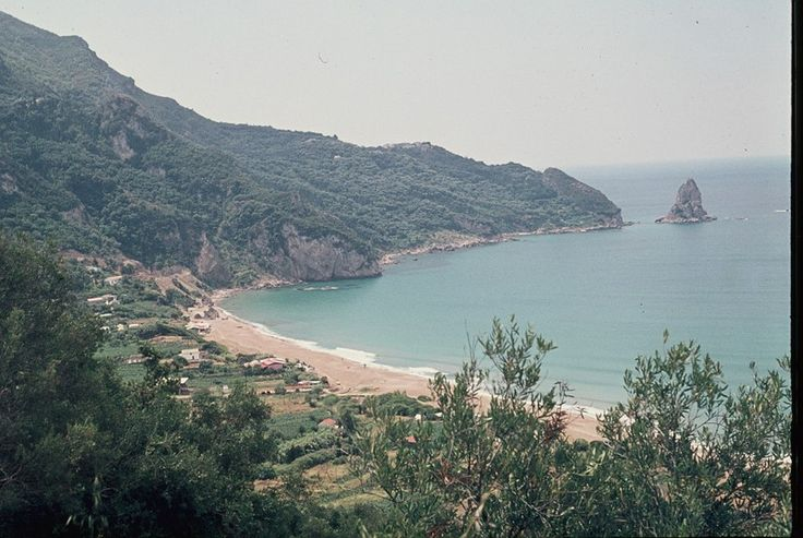 A view of Agios Gordios, in the very early stages of development